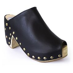 Guatemalan Boots - Handmade boots - Stud Obsession Clogs - Studded black leather clogs from heel to toe these will turn heads wherever you go! Guatemalan women, artisan in Guatemala #handmadeboots #guatemala #customboots #handmade #boots #GuateBoots www.nawalboots.com