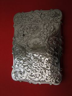 Antique English Victorian card case sterling silver. by MeloFrei