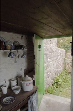 The cottage is wee, but do come inside ~ for no matter how small the door's always wide!
