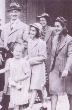 Otto and Anne Frank at the wedding of Jan & Miep Gies.
