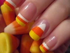 candy corn nail art!