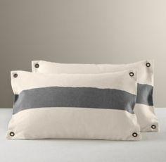 Vintage Canvas Grommet Pillow Cover | Decorative Pillows | Restoration Hardware Baby & Child