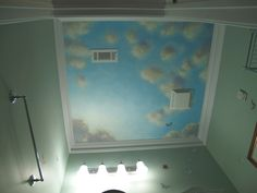 blue sky mural - Google Search