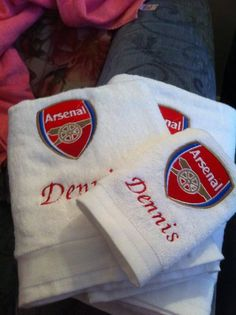 Arsenal FC embroidery design towel