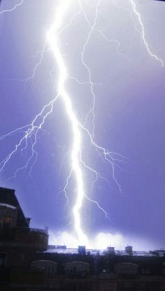 Lightning strikes: The most dramatic pictures of extreme weather hitting buildings