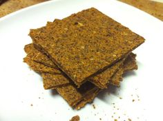 raw vegan carrot flax crackers
