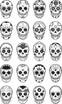 Sugar Skull- day of the dead. hispanic culture