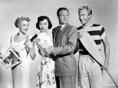 "Virginia Field, Patricia Neal, Van Heflin, Richard Denning, ""Week-End With Father"""