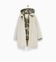 HOODED CAMOUFLAGE PARKA from Zara