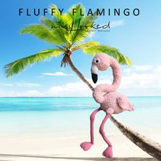 Fluffy flamingo - haakpatroon - zachte knuffel - haken - amigurumi - MrsHooked