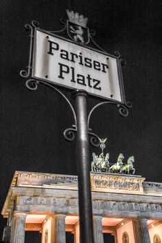 Berlin Pariser Platz Germany - Deutschland. Brandenburg Gate - Brandenburger Tor
