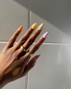 Minimalist Nails, Nail Swag, Nail Art Pictures, Nagellack Trends, Fire Nails, Funky Nails, Best Acrylic Nails, Colourful Acrylic Nails, Shellac Nail Art