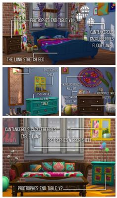 Movie Hangout Mesh Edits Add-on | Movie Hangout Stuff | Bed Room | by skellysims & rachidsims via tumblr | Sims 4 | TS4 I Maxis Match | MM | CC | Pin via sueladysims