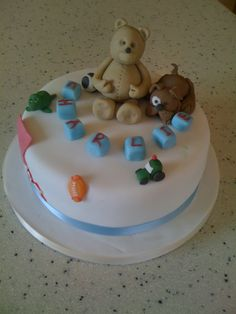 Christening cake with Toys