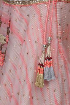 1 paire de Indian GOTA et cloches Latkan Sari Blouse Accessory duppata à coudre