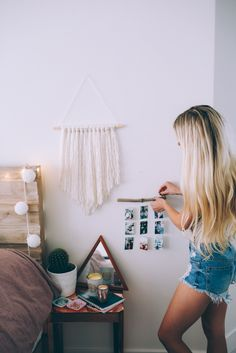 DIY Summer Room Decor inspired by Pinterest! + Room Makeover