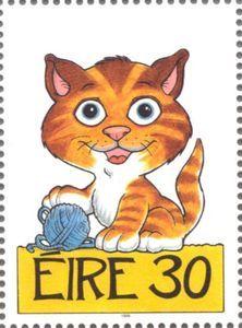 Sello: Cat (Irlanda) (Greetings Stamps 1999 - Pets) Mi:IE 1114,Sg:IE 1211,AFA:IE 1105