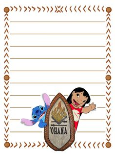 "'Ohana  - Project Life Disney Journal Card - Scrapbooking. ~~~~~~~~~ Size: 3x4"" @ 300 dpi. This card is **Personal use only - NOT for sale/resale** Logos/clipart belong to Disney."