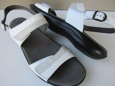 60dde203f2ce Women s SAS 12 W White silver Leather Sandals NEW. Leather SandalsShoes  SandalsAnkle ...