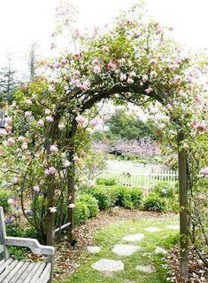 50 Secret Garden And Landscape Design Ideas - Garden Planning 2020 Garden Archway, Garden Gates, Garden Arbor With Gate, The Secret Garden, Cottage Garden Design, Dream Garden, Diy Garden, Cacti Garden, Roses Garden