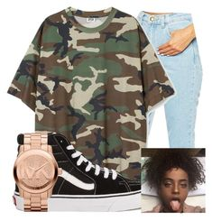 """""""Untitled #285"""" by brooklynnmckenna ❤ liked on Polyvore featuring American Apparel, Vans and Michael Kors"""