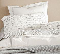 Wheaton Stripe Organic Sheet Set #potterybarn