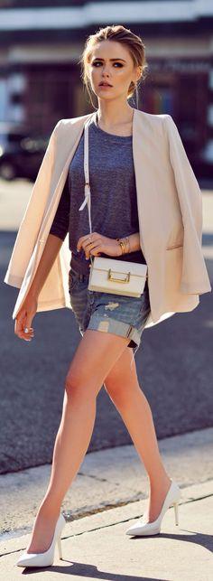 H&m Denim Boyfriend Shorts #Shorts