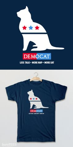 Funny Political T-Shirt: Demo Cat | Election Humor Tee Shirt or Cat Lover Gift. :)
