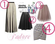 Trend alert: skirts I love