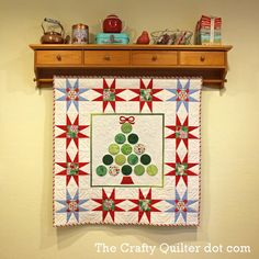 Christmas Tree Wall Hanging by Julie Cefalu @ the Crafty Quilter Great shelf idea for the dining room.