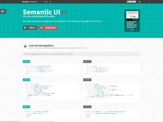 http://semantic-ui.com/ a few of these examples are quite nicely done. Markup examples are good as well