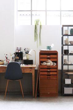 Artist's workspace.