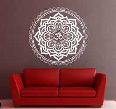 Hey, I found this really awesome Etsy listing at https://www.etsy.com/listing/207361223/mandala-wall-decal-sticker-yoga-om