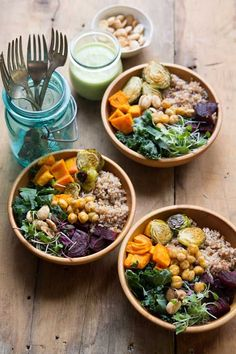 Super Food Bowls . Keep it Gluten Free by Using Brown Rice, Quinoa or Buckwheat #glutenfree #healthyeating