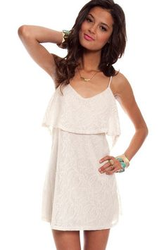 Annie Lace Dress in Ivory $26 at www.tobi.com