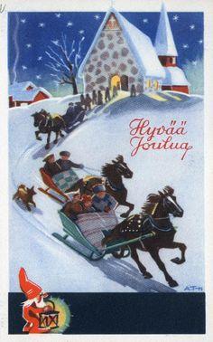 Hyvää Joulua #kirkot #hevoset #joulukortit #joulu #christmascards Kirjavälitys Osakeyhtiön arkisto