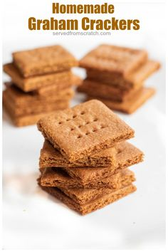 Did you know you can make Homemade Graham Crackers? They're surprisingly easy and fun to make! #recipe #desserts #grahamcrackers