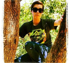 jeremy shada in a tree❤❤ That is one lucky tree.