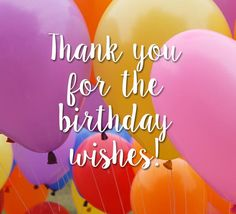Did someone's wishes made your #birthday special? Send them a #thankyou note with this colorful birthday #balloons. #HappyBirthday #Thanks #ecard.