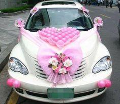 Wedding car, PT Cruiser version.