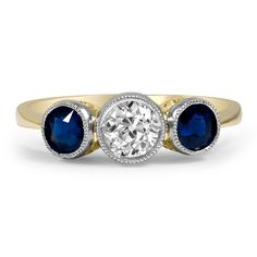 18K Yellow Gold, Platinum The Romona Ring from Brilliant Earth
