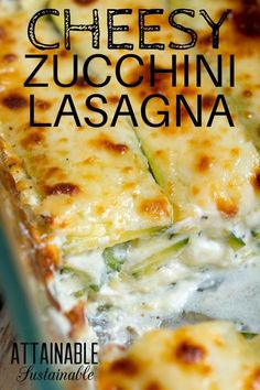 This white zucchini lasagna recipe is cheesy goodness at its best. Fresh zucchini, right from the garden, layered with two kinds of cheese and spices makes this zucchini lasagna recipe a winner. It's… More