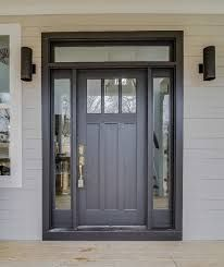 going to Home Depot to pick out this door with one side light pane ...
