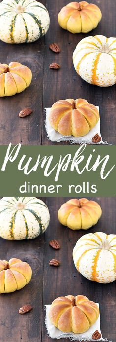 These pumpkin dinner rolls will be a hit at your Thanksgiving or Halloween…
