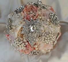 Bridal Brooch Bouquets by Glam Bouquet. Wedding Bouquets inspired and for our brides. Browse hundreds of designs or order a custom bridal brooch bouquet for your wedding at http://www.glambouquet.com