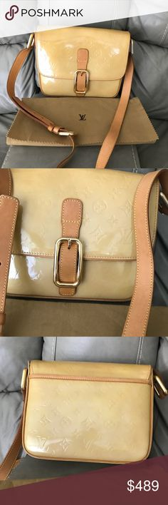 58ac20a26b22 authentic LV Christie Vernis Beautiful vernis Crossbody by Louis Vuitton.  Have minor leather trim