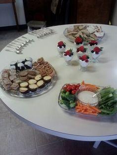 Little girls tea party appetizer & desserts