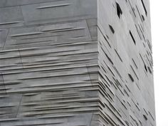 Precast concrete (versus poured-in-place) can be an incredible material, not just functionally and coastwise, but texturally, and even architectonically too - see the Perot Museum Precast. Shadow Architecture, Parametric Architecture, Architecture Wallpaper, Facade Architecture, Amazing Architecture, Precast Concrete Panels, Concrete Facade, Concrete Texture, Stone Masonry