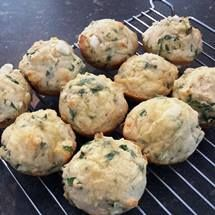 Easy Spinach and Feta Muffins