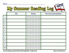 FREE: My Summer Reading Log